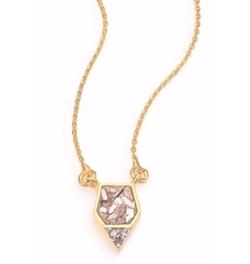 Shana Gulati  - Charushila Bijou Champagne Diamond Pendant Necklace