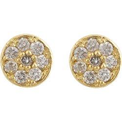 Jennifer Meyer - Diamond & Gold Stud Earrings