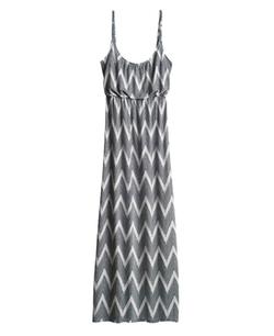 Simply Be - Zig Zag Print Strappy Jersey Maxi Dress