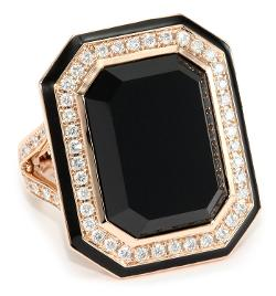 Ivanka Trump - Octagonal Cocktail Ring with Black Onyx and Diamonds
