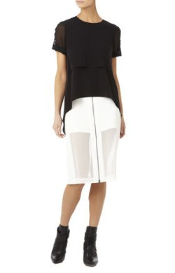 BCBGMAXAZRIA - Beatrix Short-Sleeve Layered Top