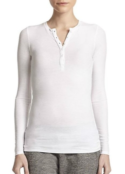 ATM Anthony Thomas Melillo  - Stretch Henley Shirt