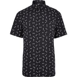 River Island - Black Hourglass Print Short Sleeve Shirt