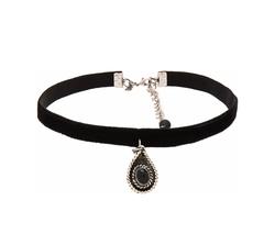 Natalie B - Jewelry La Femme Boheme Velvet Choker Necklace