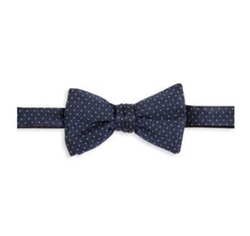 Saks Fifth Avenue Collection  - Pin Dot Silk Bow Tie