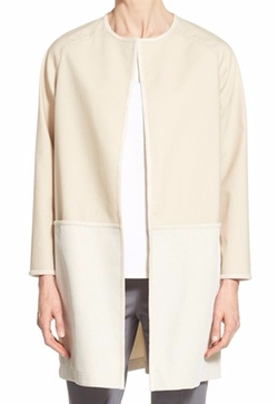 Lafayette 148 New York - Ashlynn Collarless Bonded Mesh Topper