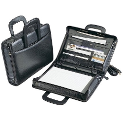 Preferred Nation - Leather Zip-Around Three-Ring Binder/laptop Case