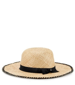 Tory Burch - Whipstitch Wide-Brim Hat
