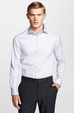 Armani Collezioni - Slim Fit Poplin Dress Shirt