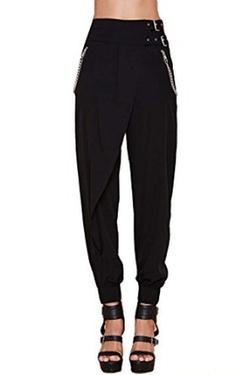 Gesun - Buckle High Waist Casual Pants