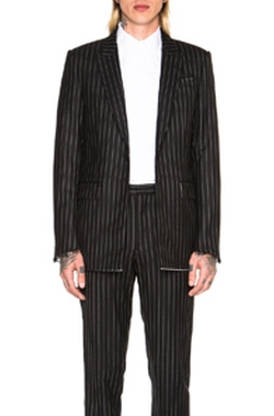 Givenchy - Striped Single Button Blazer