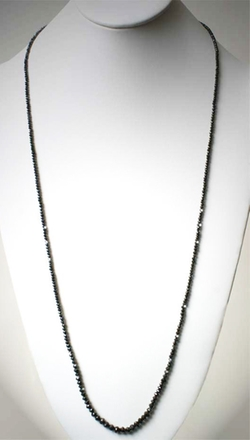 Itay Malkin - Long Black Diamond Necklace