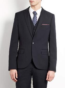 Topman - Navy Skinny Fit Three Piece Suit
