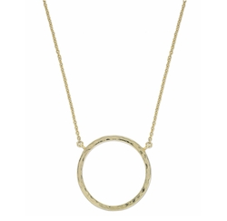 Giani Bernini - Hammered Circle Pendant Necklace