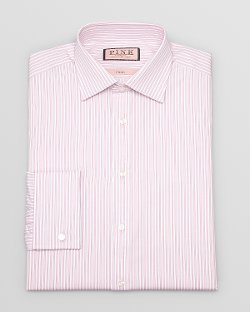 Thomas  - Pink Ian Stripe Dress Shirt