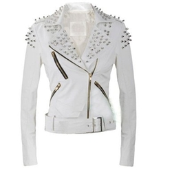 Hellojuncao - Strong Spike Studded Shoulder Jacket
