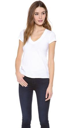 James Perse  - Short Sleeve V Neck Tee