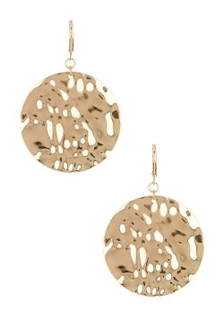 14th & Union  - Large Hammered Disc Earrings