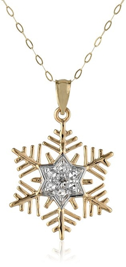Amazon Collection - Diamond Snowflake Pendant Necklace