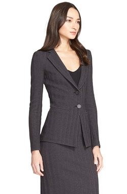 Armani Collezioni  - Herringbone Jersey Two-Button Jacket