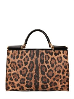 Dolce & Gabbana  - Embossed Leather Top Handle Bag
