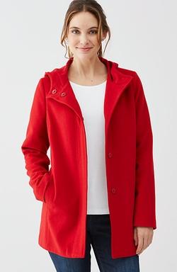 J.Jill - Hooded Wool-Blend Coat