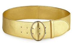 Prada - Wide Metallic Leather Belt