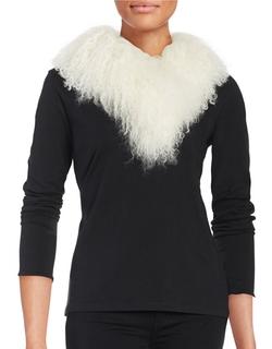 Adrienne Landau - Lamb Fur Stole Scarf