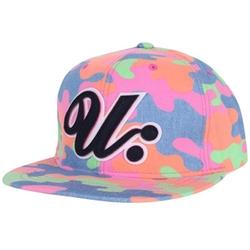 Ililily - U Logo Colorful Camouflage Snapback Hat