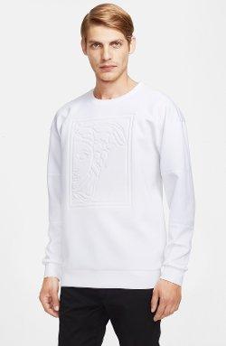 Versace Collection - Embossed Oversized Neoprene Sweatshirt