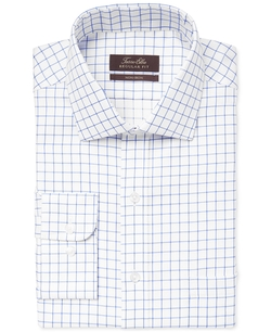 Tasso Elba - Non-Iron Blue Windowpane Dress Shirt
