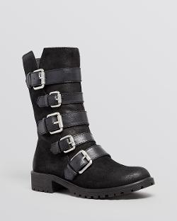 Naya - Flat Moto Boots