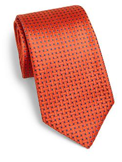 Charvet  - Square Print Neat Silk Tie