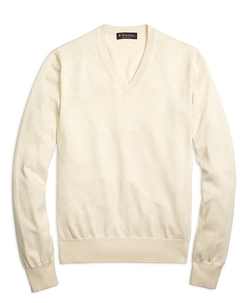 Brooks Brothers - Supima Cotton V-Neck Sweater