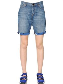 Marni - Cotton Linen Denim Jean Shorts