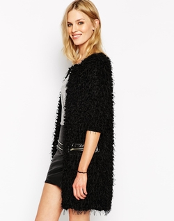 Noisy May  - Textured Fluffy Cardigan