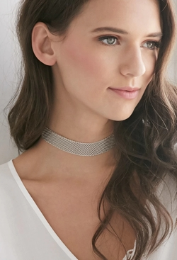 Forever21 - Mesh Chain Choker Necklace