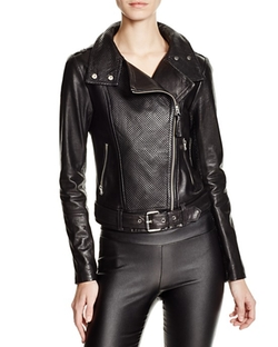 Mackage  - Hania Perforated Leather Motorcycle Jacket