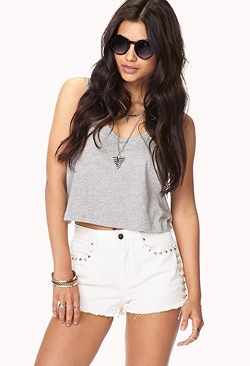 Forever 21 - Studded Denim Cut Off Shorts