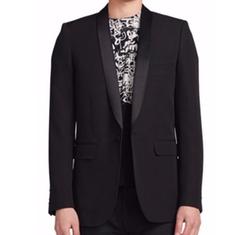Saint Laurent  - Shawl-Collar Wool Blazer