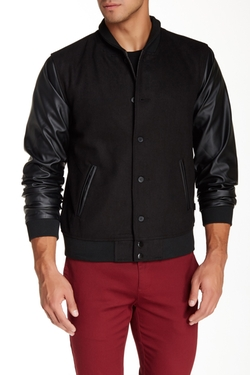 Zak - Larry Vegan Leather Sleeve Jacket
