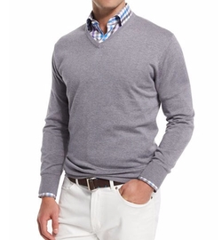 Peter Millar  - Cashmere-Blend V-Neck Sweater