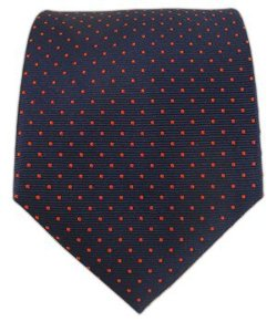 The Tie Bar - Silk Woven Mini Dots Patterned Tie