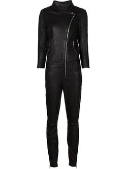 RTA Denim - Leather Jumpsuit