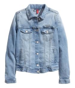 H&M - Printed Denim Jacket