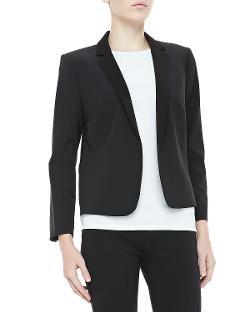 Halston Heritage  - Cropped Tuxedo Blazer
