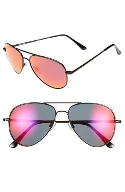 Polaroid Eyewear - Polarized Mirror Lens Aviator Sunglasses