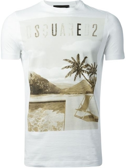 DSquared2 - Tropical Beach Print T-Shirt