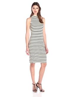 Monrow - Sleeveless Stripe Turtleneck Dress