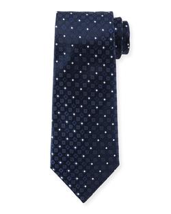Armani Collezioni - Square & Dot-Print Silk Tie